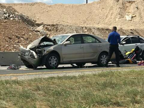 Two injured in multi-vehicle wreck that closed a portion of