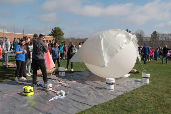 The 2nd annual Region 10 Stratostar Launch and STEM Day included a weather balloon launch, egg drop and robotics.