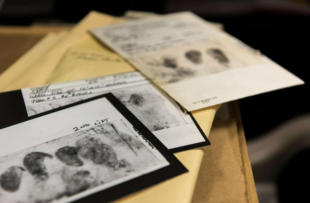 A photo provided by the FBI of fingerprints lifted from crime scenes, shoe treads, and DNA. To solve the East Area Rapist case, a decades-old serial rape and murder case that had gone cold, investigators used DNA gathered at a crime scene and created a fake profile and pseudonym on a genealogy website several months ago, according to law enforcement officials. (FBI via The New York Times) � FOR EDITORIAL USE ONLY �