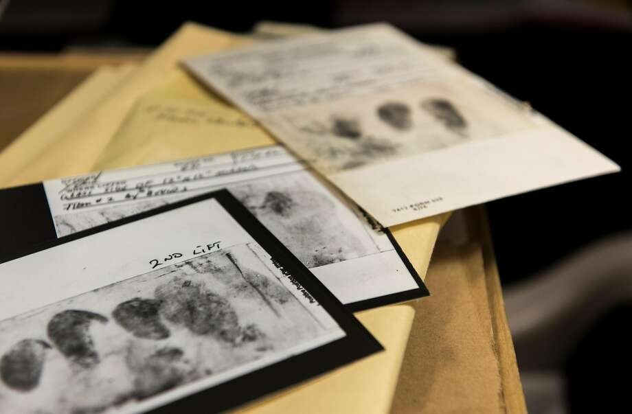An FBI photo shows fingerprints lifted from crime scenes. Shoe treads and DNA also were used by law en forcement officials to solve the East Area Rapist case. Photo: FBI