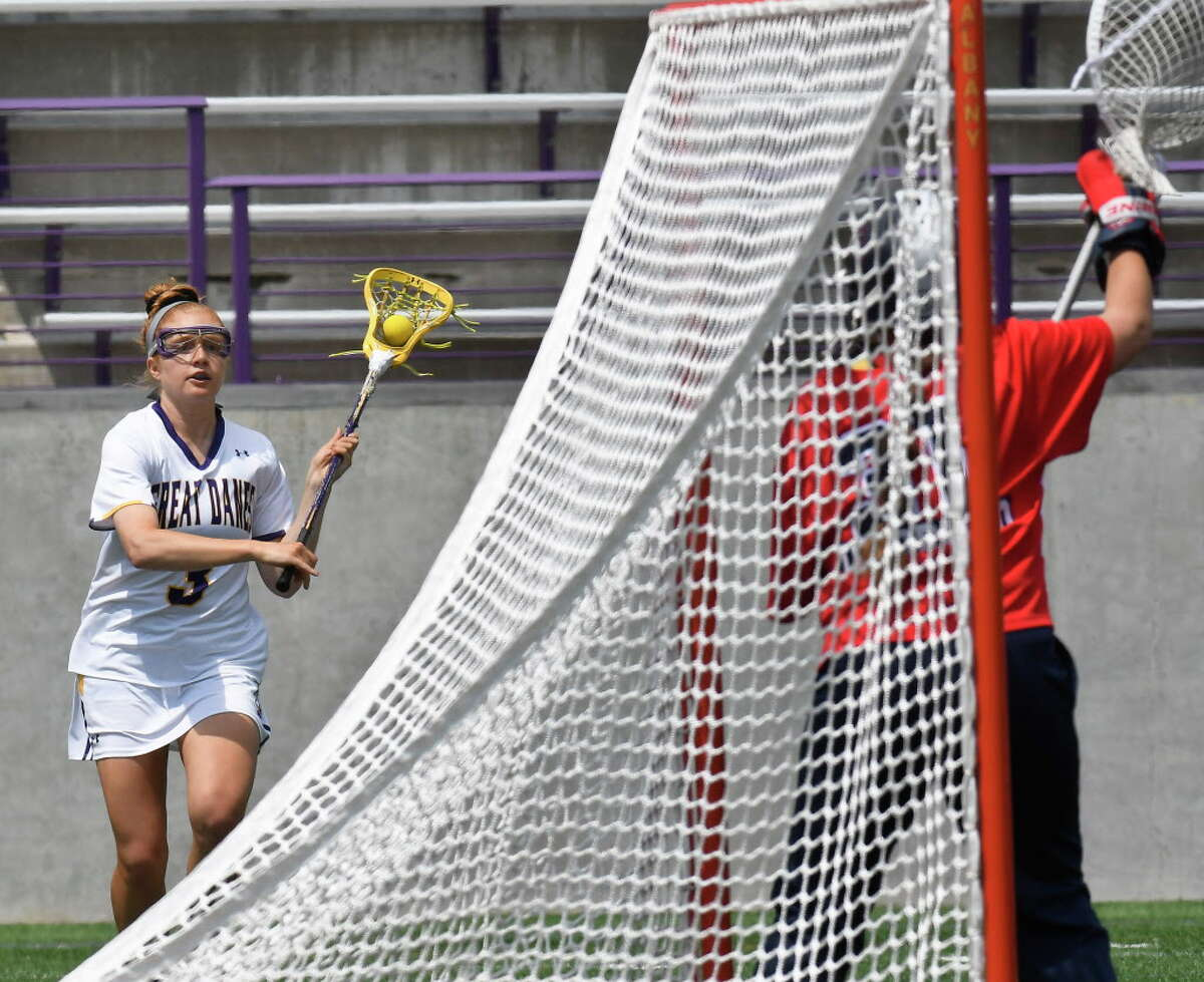 UAlbany's Madison Conway scored a pair of goals the last time the Danes played Boston College. (Hans Pennink / Times Union archive)