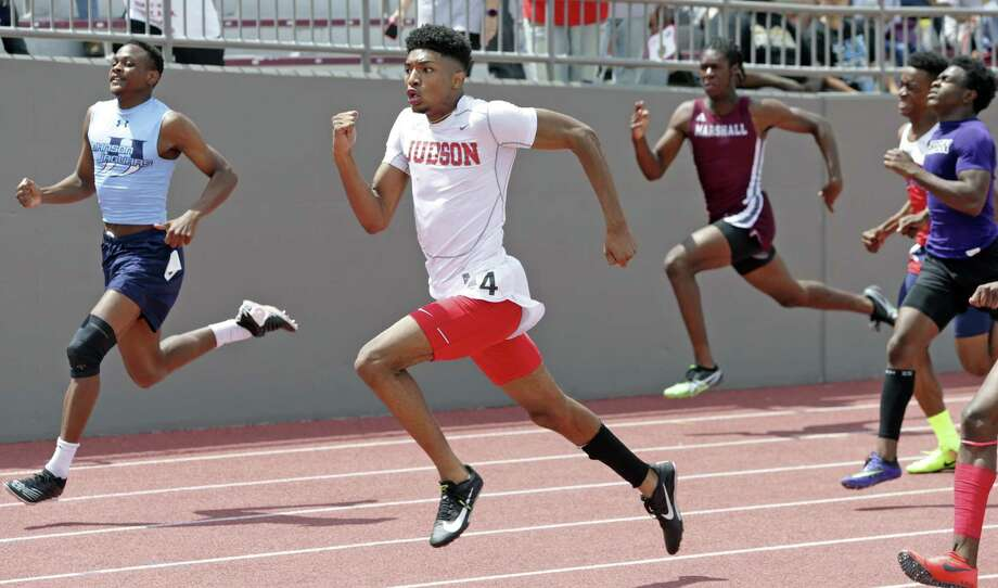 Richard Kuykendoll wins the 200 meter for Judson during the Region IV-6A and Region IV-5-A track and filed meet at Alamo Stadium on April 28, 2018. Photo: Tom Reel, Staff / San Antonio Express-News / 2017 SAN ANTONIO EXPRESS-NEWS