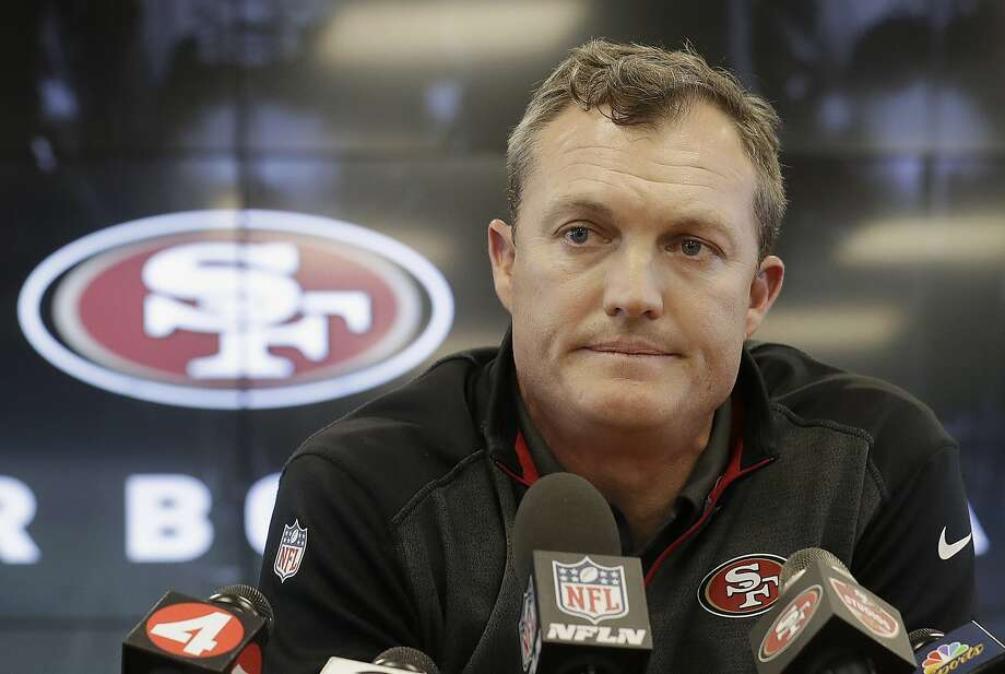 San Francisco 49ers general manager John Lynch speaks to reporters at the team's football facility in Santa Clara, Calif., Monday, April 23, 2018. (AP Photo/Jeff Chiu) Photo: Jeff Chiu / Associated Press