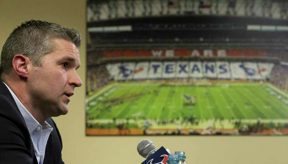 "If Texans general manager Brian Gaine follows one guiding principle for the draft, it is that ""everybody works together to achieve the best results."" Photo: Brett Coomer, Staff / Houston Chronicle / © 2018 Houston Chronicle"