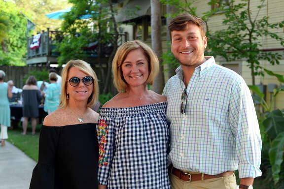 Bridget Hilts, Ellen Schulz and Garrison Fuller during the Oaks Historic District's Preservation Bash.  Photo taken Saturday 4/28/18 Ryan Pelham/The Enterprise