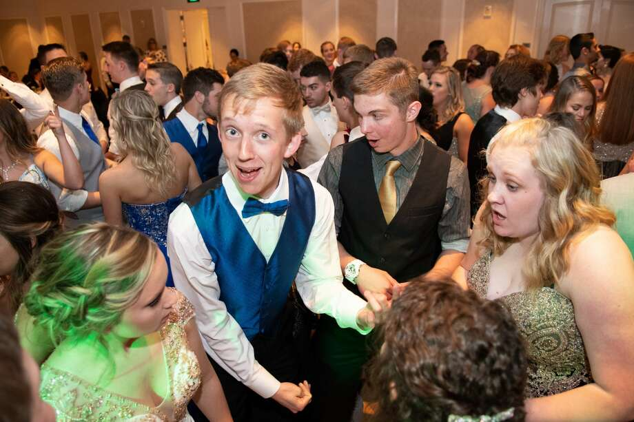 Students dance the night away at the Bullock Creek High School prom at the H Hotel Saturday evening. (Steven Simpkins/for the Daily News) Photo: Steven Simpkins/Midland Daily News