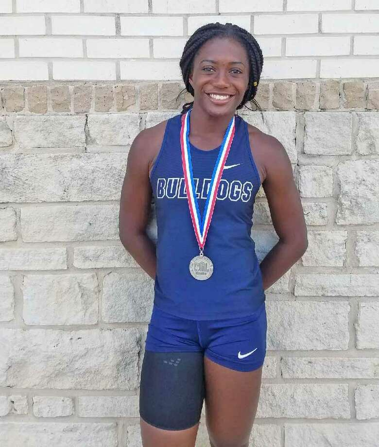 Alexander's Cynthia Emeremnu placed second in the 100-meter dash Saturday, earn the school's first state berth since 2010. Photo: Courtesy Photo