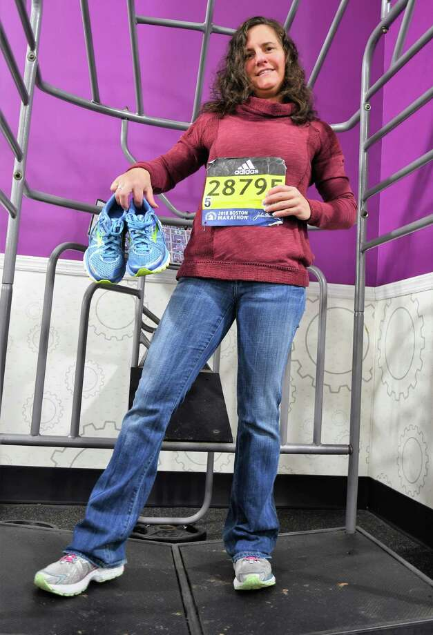 Extreme weather ended her run at 22 miles,but marathoner Julia Buck is stillon track to raise funds for people whoneed prosthetics. Photo: KatherineJurgens