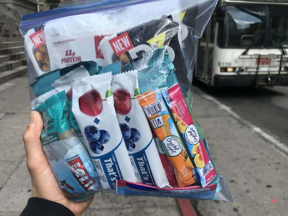 Peter Hartlaub's snack bag for the Total Muni 2018 excursion. Photo: Peter Hartlaub