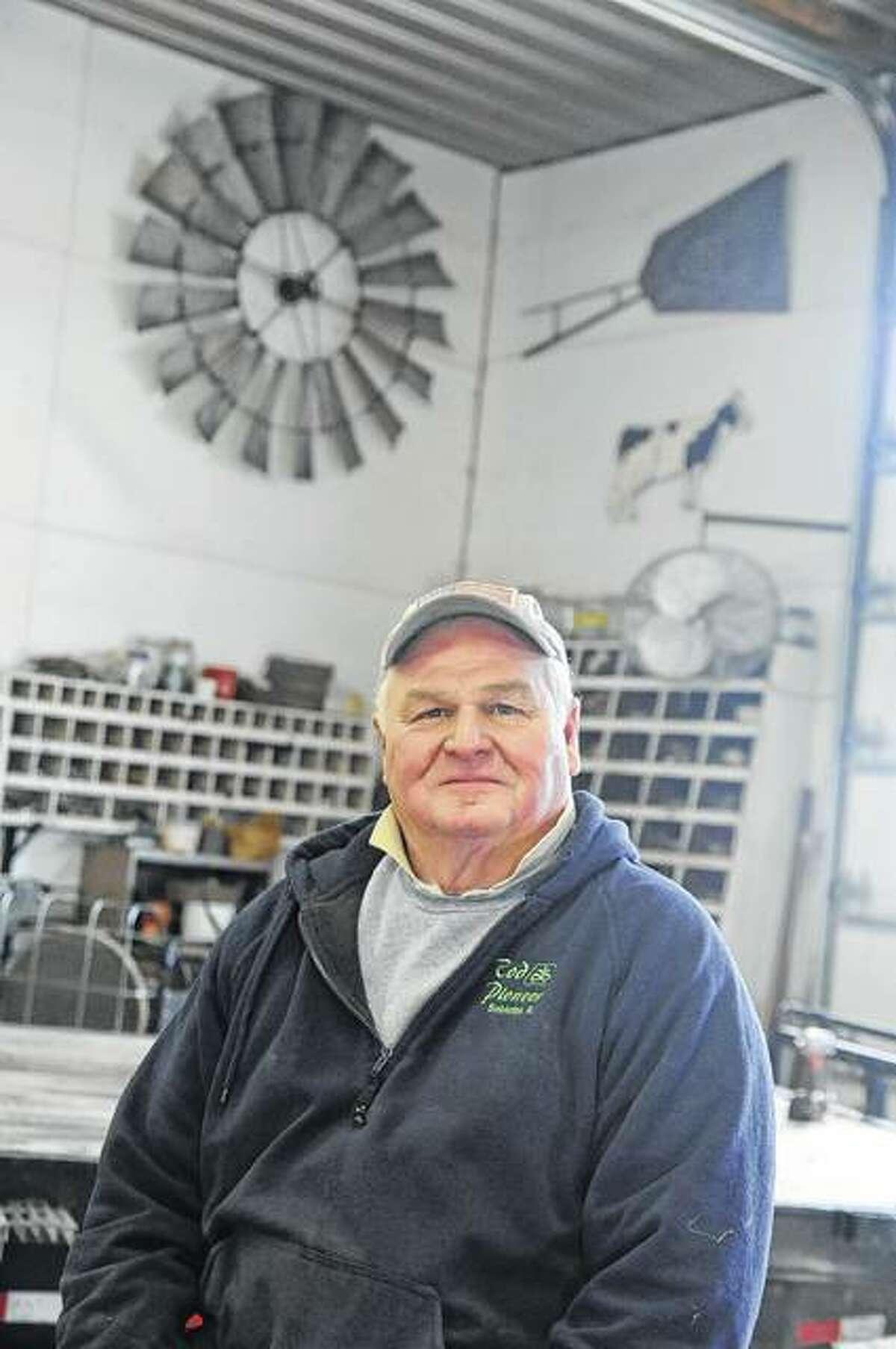 Master Farmer Jim Rapp of Princeton in his shop.