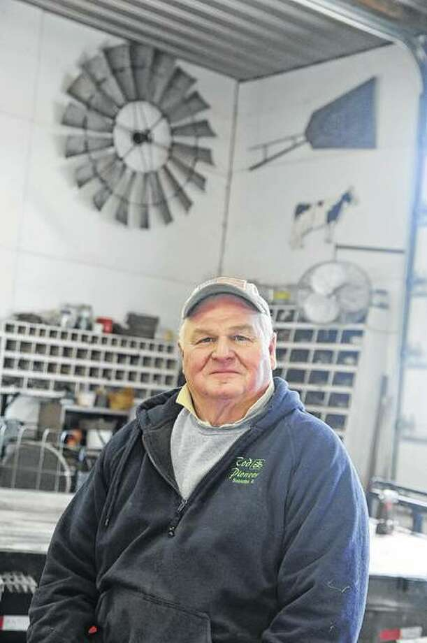 Master Farmer Jim Rapp of Princeton in his shop. Photo:       David Blanchette | Journal-Courier