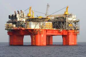 A federal auction for offshore oil and gas leases in the Gulf of Mexico Thursday drew less than $160 million in wining bids, 10 percent less than last summer's auction