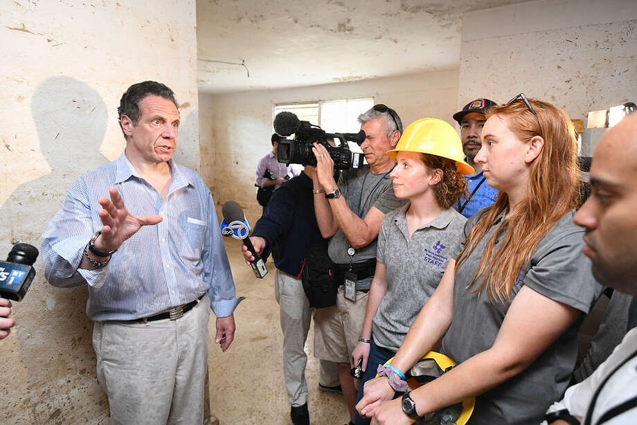 New York Governor Andrew Cuomo with volunteers in Puerto Rico on Sunday, April 29, 2018. Photo: Https://www.flickr.com/photos/governorandrewcuomo