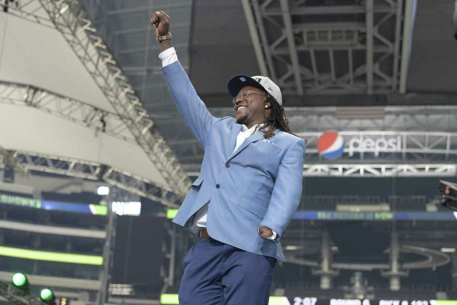 The Seattle Seahawks selected UCF linebacker Shaquem Griffin in the fifth round, 141st overall, during the final day of the 2018 NFL Draft at AT&T Stadium in Arlington, Texas, on Saturday, April 28, 2018. Photo: Max Faulkner, TNS / Fort Worth Star-Telegram