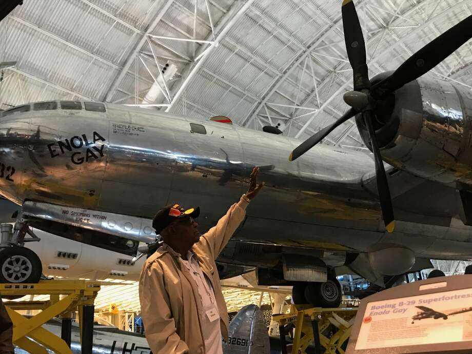 Midlander M.J. Dinkins, a World War II veteran, had the opportunity to see the Enola Gay during a visit last year to the National Air and Space Museum. The museum was part of the tour for participants of Permian Basin Honor Flight.