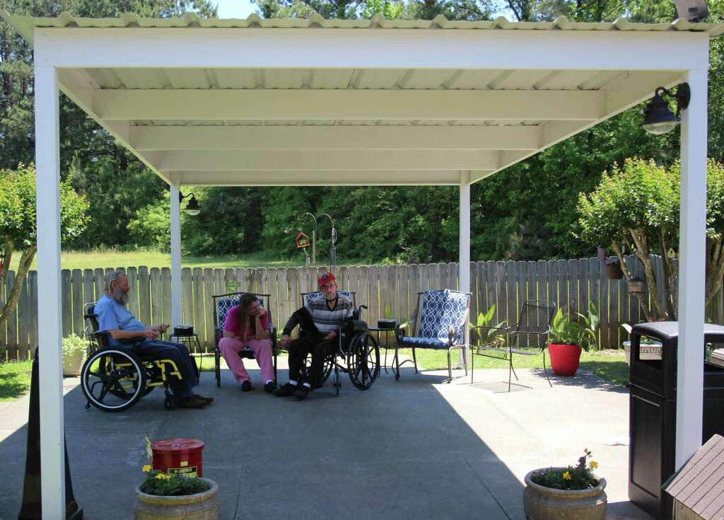 Some Of The Renovations At The Woodland Park Nursing Home Include A Garden  And An Awning