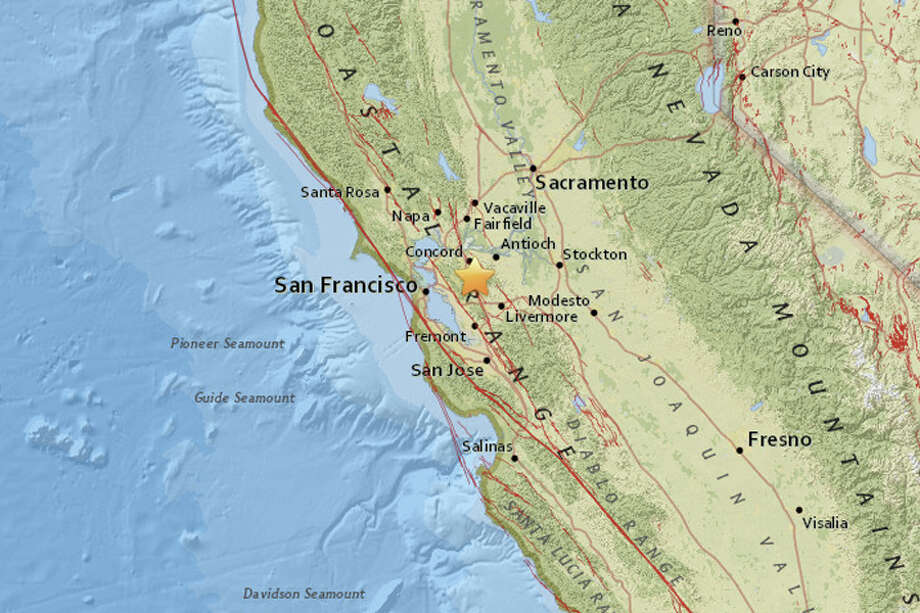 A series of earthquakes struck near Alamo, California on Sunday April 29th and Monday April 30, 2018, according to the USGS. Photo: USGS