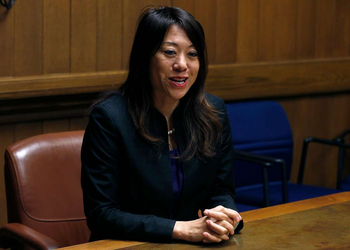 Candidate for state treasurer Fiona Ma meets with the Chronicle Editorial Board.