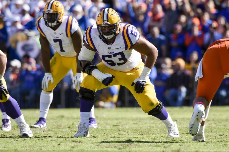 BATON ROUGE, LA - NOVEMBER 19: LSU Tigers guard K.J. Malone (63) during the football game between Florida and LSU on November 19, 2016 at Tiger Stadium in Baton Rouge, LA.  Florida would defeat LSU 16-10.  (Photo by Andy Altenburger/Icon Sportswire via Getty Images) Photo: Icon Sportswire/Icon Sportswire Via Getty Images