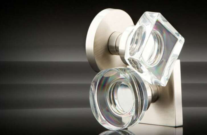 Emtek's Modern Round or Square door knob. Available at Bering's Hardware.
