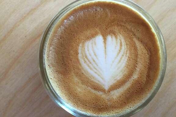 A cortado from Shotgun House Coffee Roasters at 1333 Buena Vista St.
