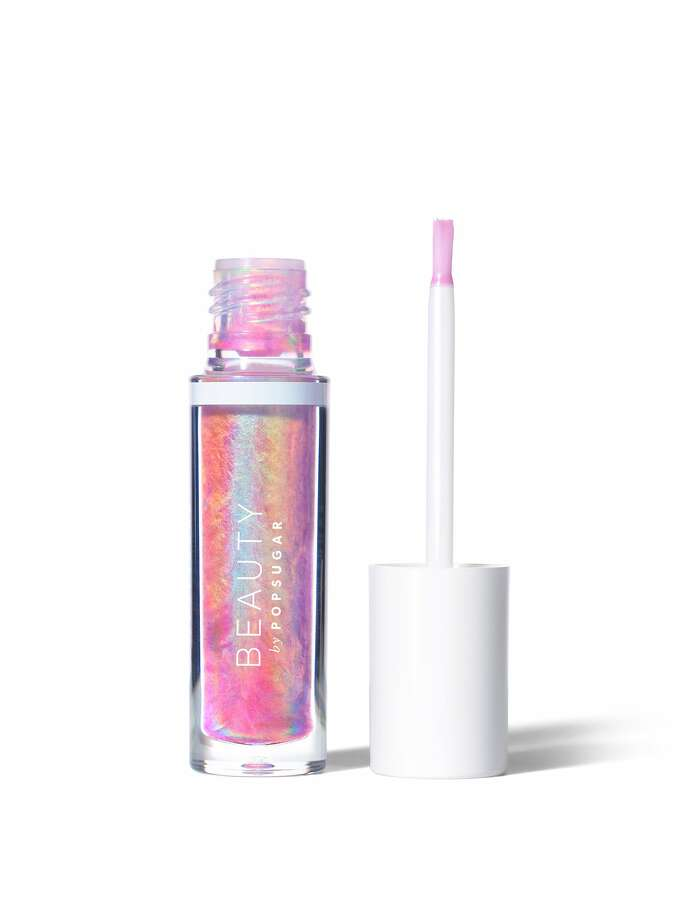Beauty by Popsugar?s new line reaches for the stars with a color collection that includes Be Cosmic Crystal Liquid Lip prismatic topcoat; $24 at Ulta stores. Photo: Popsugar