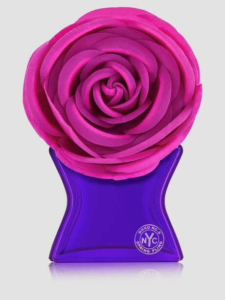 Loaded with flower power, Spring Fling is the new floral-on-floral scent (loaded with Lily of the Valley, honeysuckle, jasmine, rose and freesia) from Bond No. 9; $375 at Saks Fifth Avenue.
