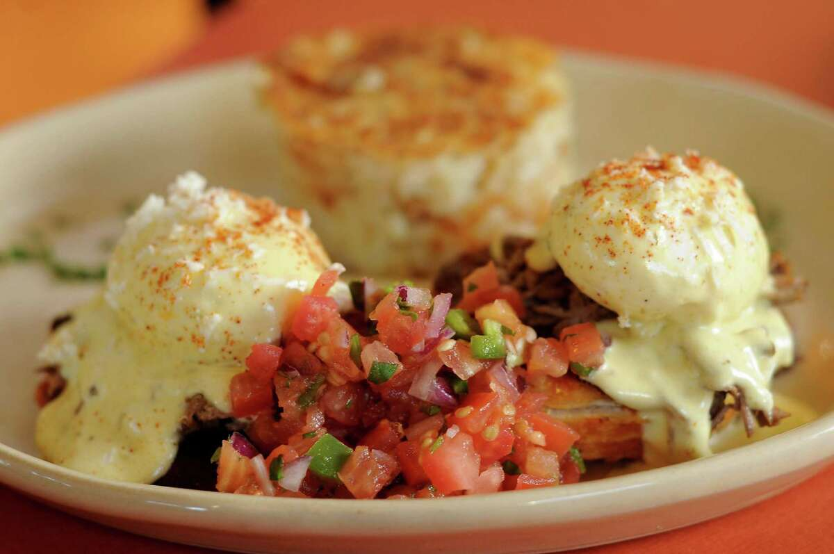 The chilaquiles benedict at Snooze. Snooze is about to open its second San Antonio location at The Vineyard at 1305 N. Loop 1604.