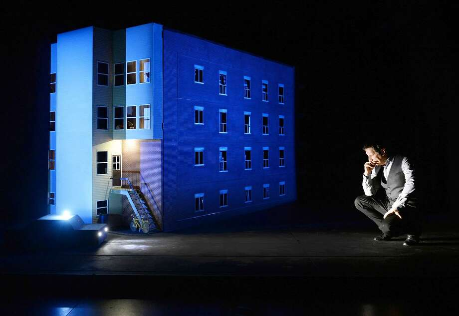 """Robert Lepage remembers his childhood in Quebec in Ex Machina's production of """"887."""" Photo: Érick Labbé"""