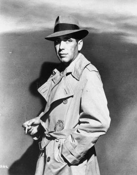 "Humphrey Bogart during the filming of ""Casablanca."" Photo: Warner Bros. 1941"