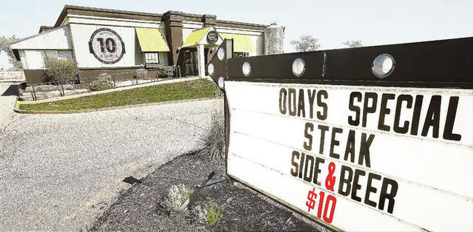 With Monday night's special still on the sign out front, The Perfect 10 Pub & Grill, located on the southeast corner of the Alton Square Mall property, told its employees Monday morning that the restaurant was closed. Photo:       John Badman   The Telegraph