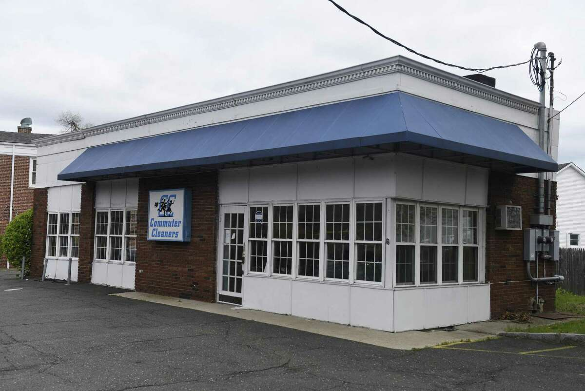 The site of the new Chocoylatte Gourmet bakery, formerly Commuter Cleaners, in the Cos Cob section of Greenwich, Conn. Monday, April 30, 2018.