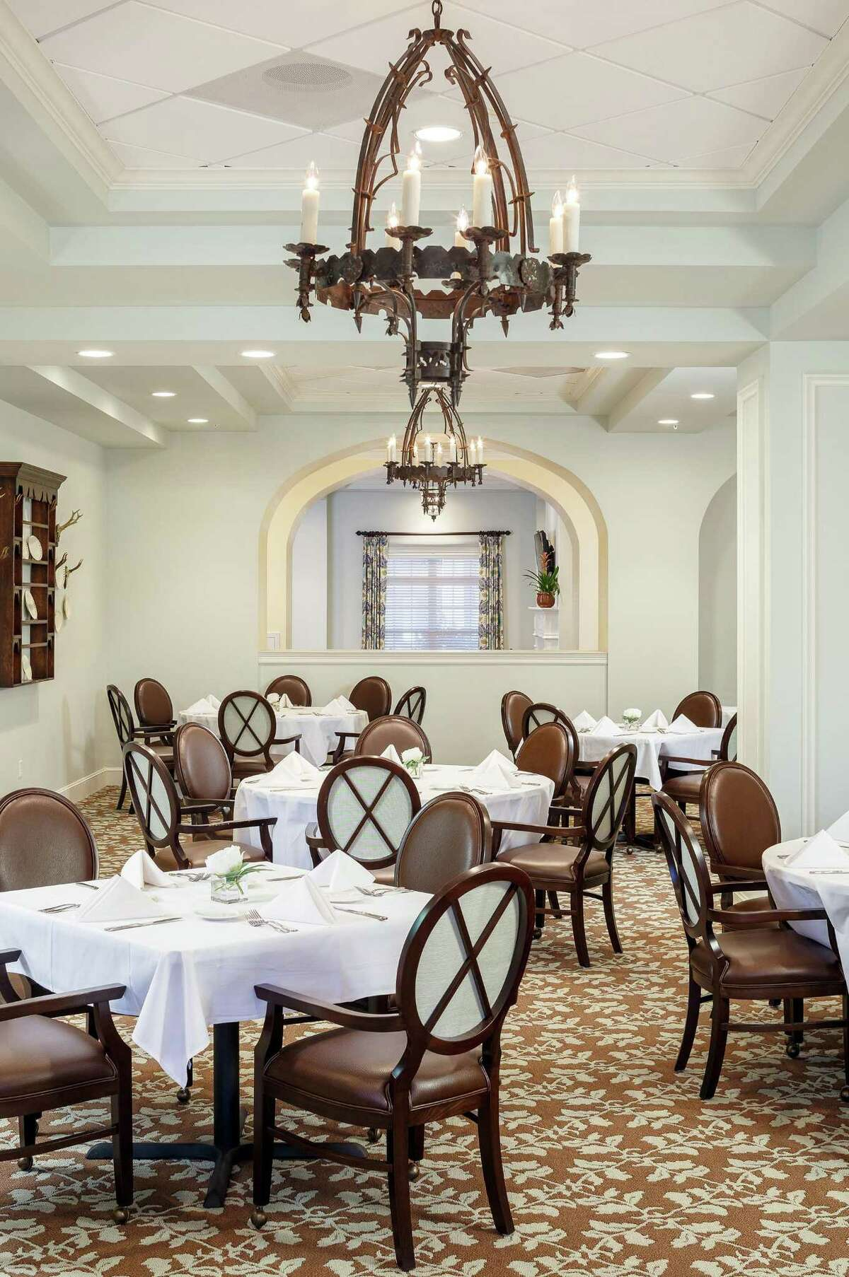 The Tradition features large communal dining rooms.