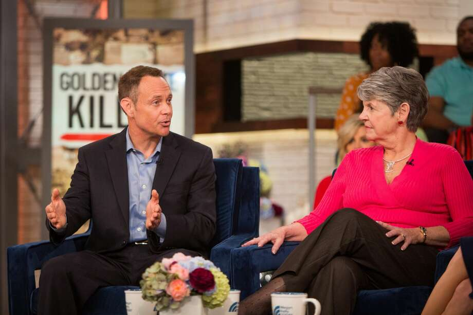 Retired Contra Costa investigator Paul Holes, Jane Carson-Sandler, an East Area Rapist survivor and author, and Megyn Kelly on Thursday, March 29, 2018. Click through the gallery to see the memes and tweets lust for Holes has spawned. Photo: Nathan Congleton/NBC/NBCU Photo Bank Via Getty Images
