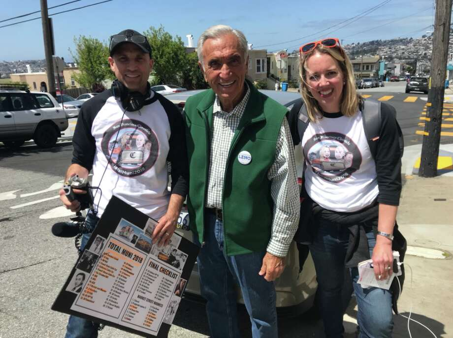 Heather and Peter recruited two celebrity chauffeurs to get them between far-apart bus lines. First up, former Mayor Art Agnos!