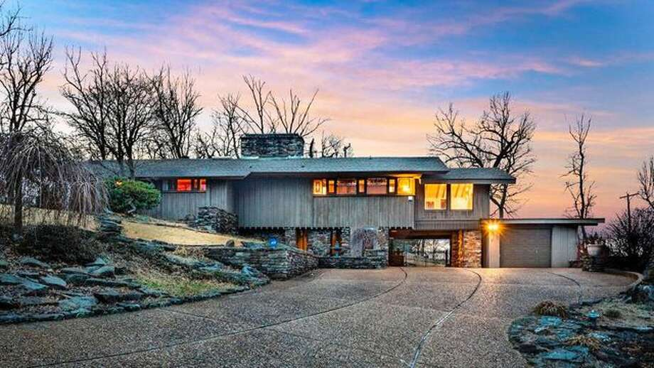affordable redwood and stone stunner with frank lloyd wright