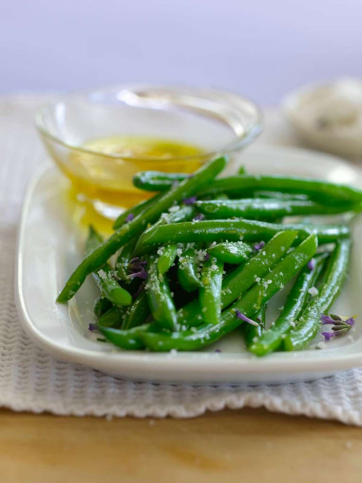 Provencal Green Beans with Lemon-Pepper Oil and Herbed Sea Salt