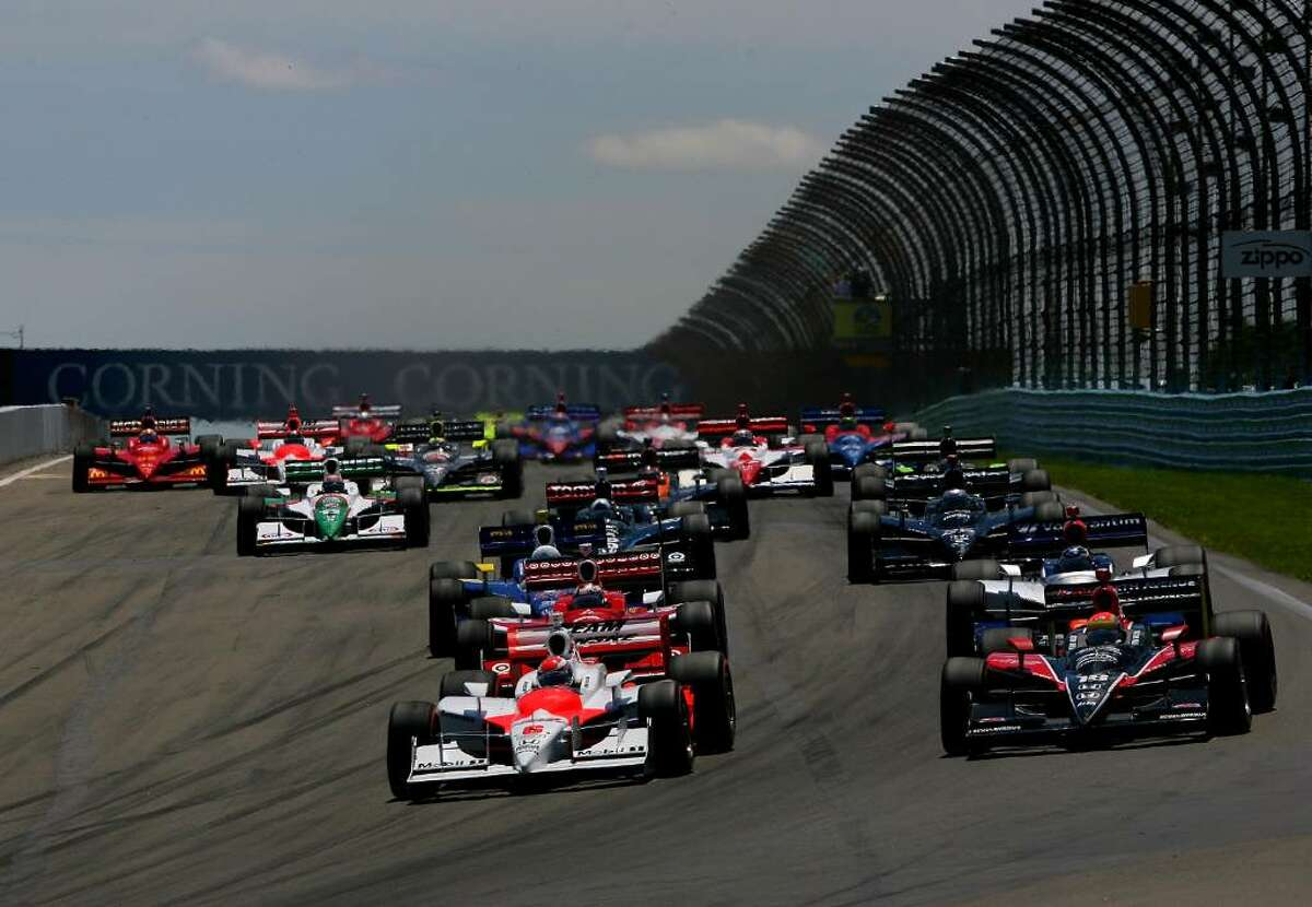 Turn one at the start of the IRL IndyCar Series Camping World Grand Prix at The Glen on July 5, 2009, at Watkins Glen International. Photo by Darrell Ingham Getty Images