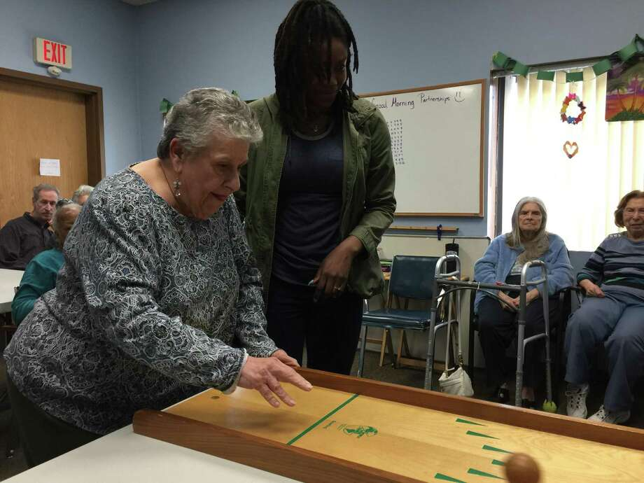 The Partnerships Center for Adult Day Care in Hamden may be forced to close as it battles financial challenges. Photo: Ben Lambert / Hearst Connecticut Media