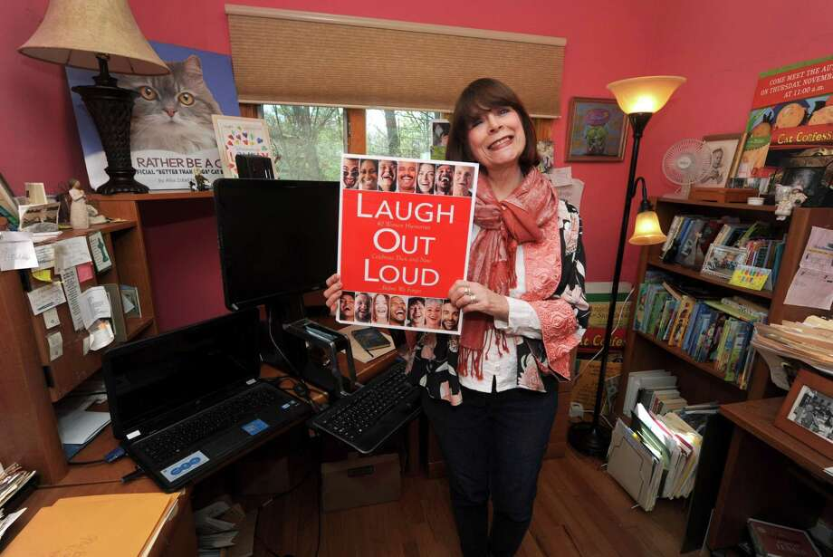 "Norwalk author Allia Zobel Nolan, who has published a new book, ""Laugh out Loud,"" which reflects on the process of aging, at her home Thursday, April 26, 2018, in Norwalk, Conn. Zobel Nolan will be featured during an author lunch at the Norwalk Library in May. Photo: Erik Trautmann / Hearst Connecticut Media / Norwalk Hour"