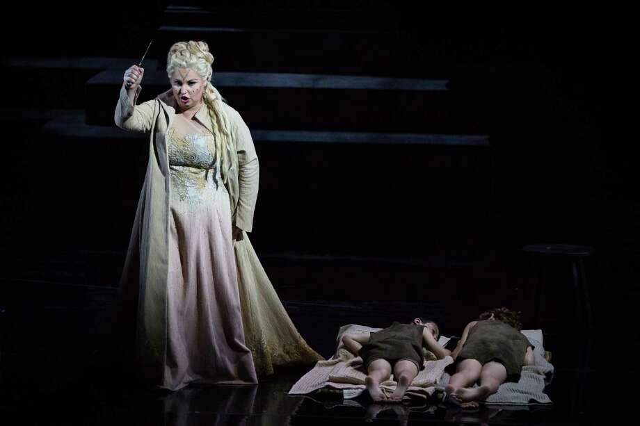 "Liudmyla Monastyrska as Norma in the Houston Grand Opera's production of ""Norma."" Photo: Courtesy Photo / Courtesy Photo"