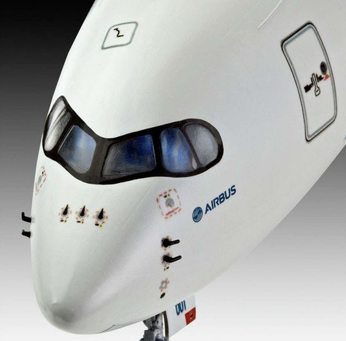 Airbus A350- note the raccoon eyes?