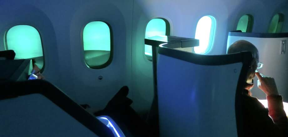 Passengers will enjoy larger windows on the 777x like the ones seen here on Boeing's Dreamliner Photo: Chris McGinnis