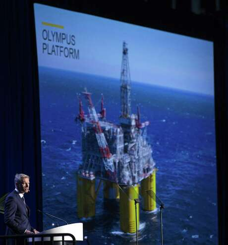 Harry Brekelmans, project and technology director, Royal Dutch Shell, speaks during the opening ceremony of the 50th Offshore Technology Conference in Houston on Monday. Photo: Brett Coomer, Staff / Houston Chronicle / © 2018 Houston Chronicle