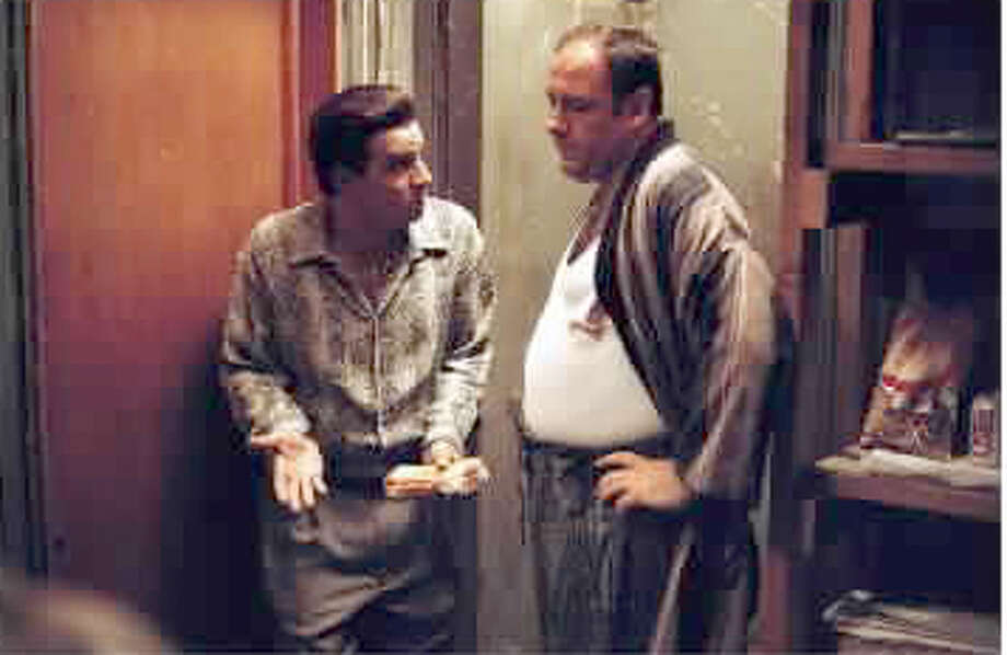 "Steve Van Zandt (as Silvio Dante) and James Gandolfini (as Tony Soprano) in a scene from HBO's hit series, ""The Sopranos."" (GNS Photo) Photo: GNS"