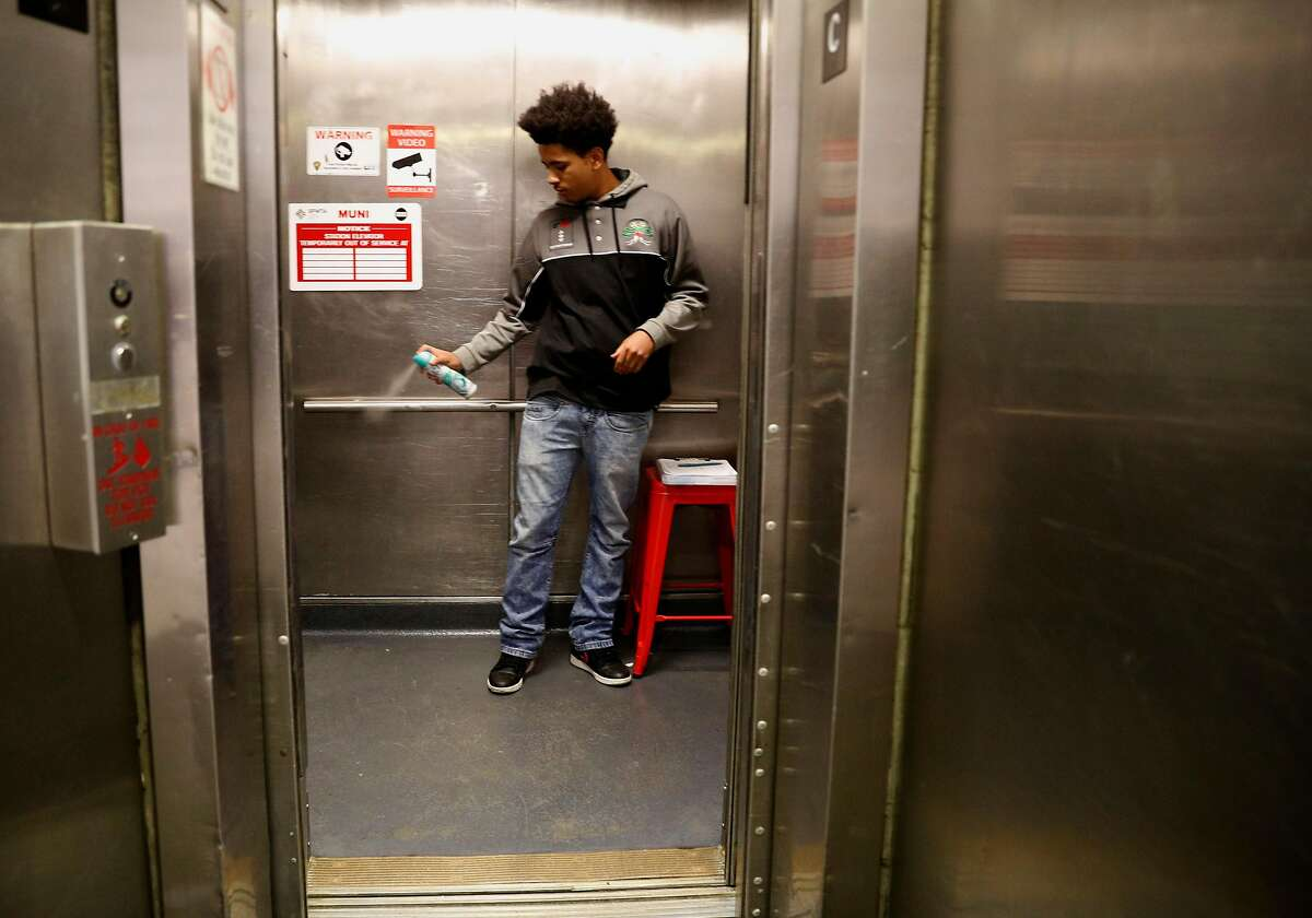 A. J. Bell is one of the BART elevator attendants working at the Civic Center station in downtown San Francisco, Ca. on Mon. April 30, 2018. Click through the gallery for a look at the items most commonly lost and found on BART.