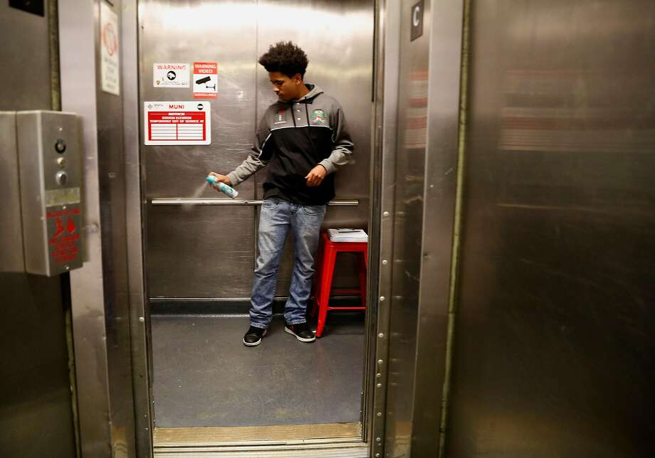 A. J. Bell is one of the BART elevator attendants working at the Civic Center station in downtown San Francisco, Ca. on Mon. April 30, 2018. Click through the gallery for a look at the items most commonly lost and found on BART. Photo: Michael Macor / The Chronicle 2018