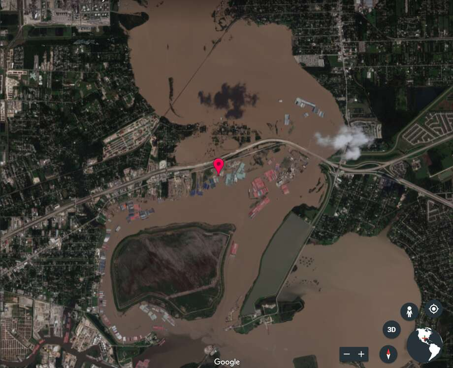 before and after  hurricane harvey in satellite photos