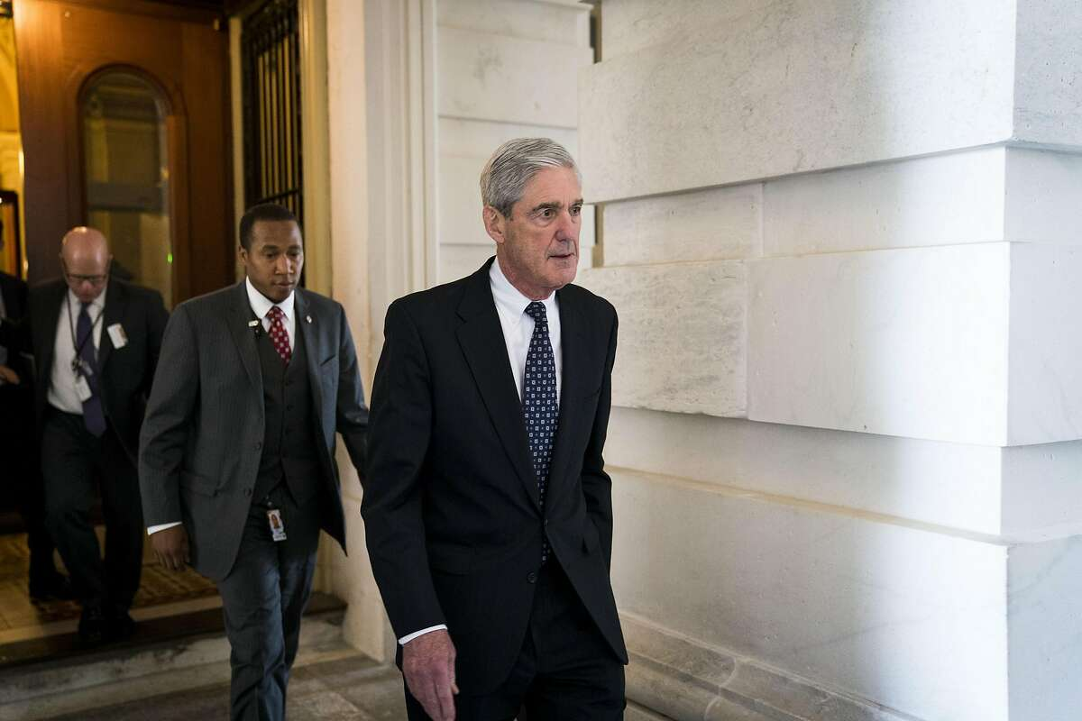 FILE � Robert Mueller, the special counsel leading the Russia investigation, leaves the Capitol in Washington, June 21, 2017. Mueller provided President Donald Trump�s lawyers a list of questions that show the special counsel�s focus on obstruction of justice and touch on some surprising other areas. (Doug Mills/The New York Times)