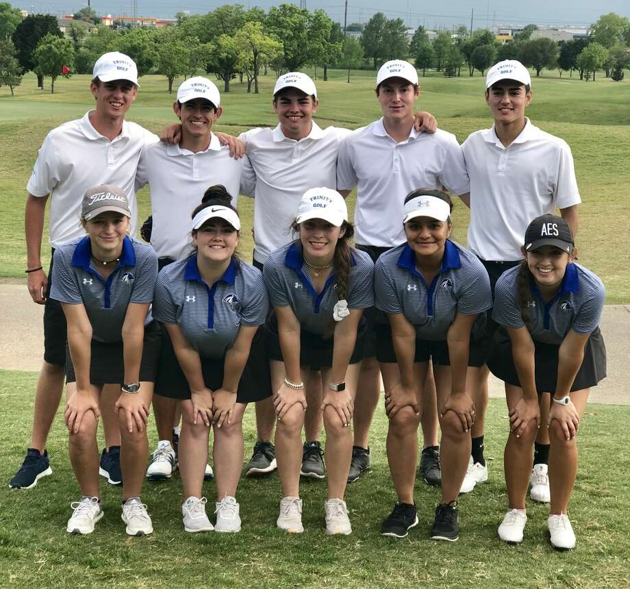 The  Trinity boys and girls golf teams pose after playing in the first round  of their respective TAPPS 4A state golf tournaments at Cottonwood Creek  Golf Course in Waco on Monday. Photo: Courtesy Photo